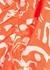 Rose printed silk crepe de chine maxi dress - RIXO