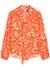Moss printed silk crepe de chine blouse - RIXO