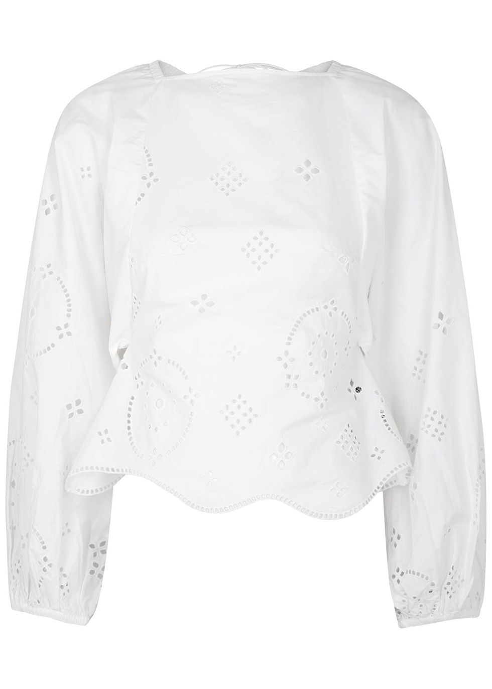 White broderie anglaise cotton top