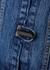 Blue ruffle-trimmed denim jacket - Ganni