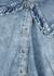 Blue ruffle-trimmed chambray shirt - Ganni