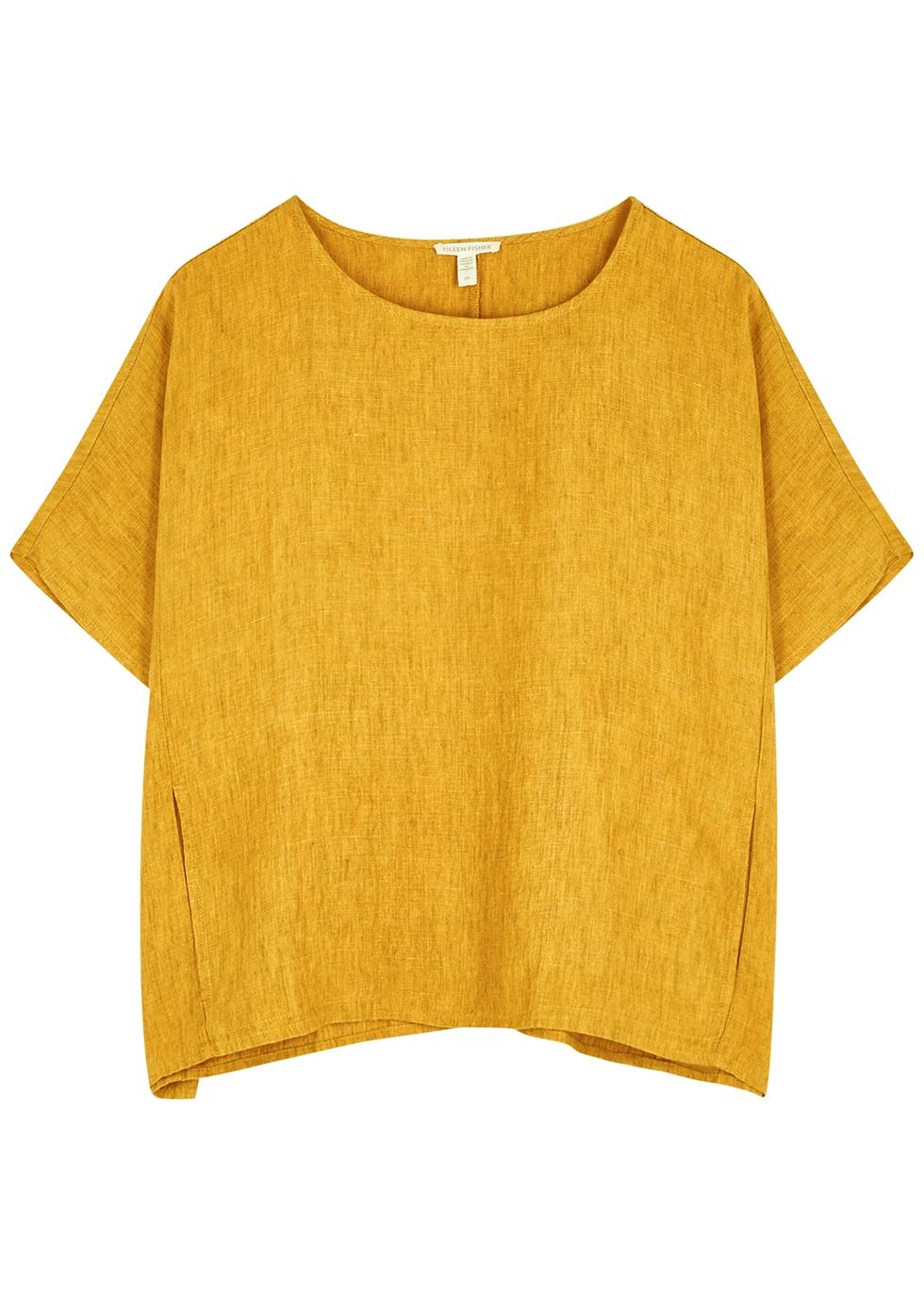 Mustard linen top
