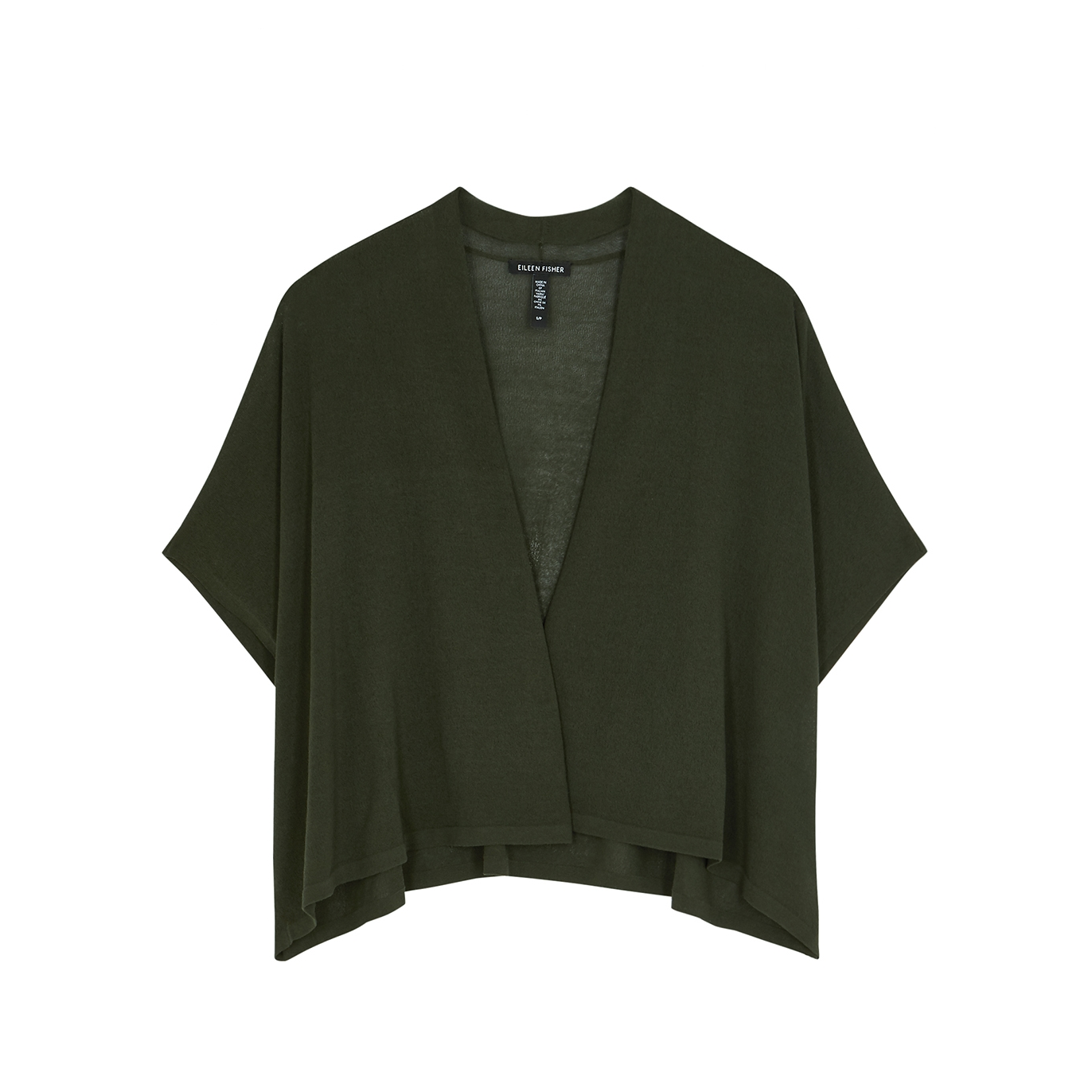 Forest green cropped cotton cardigan