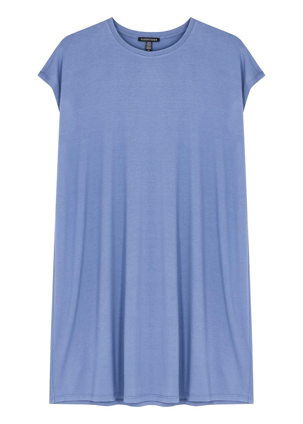 Blue stretch-jersey dress
