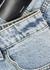 Light blue bleached longline denim shorts - Alexander Wang