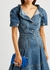 Sculptural mini blue leather cross-body bag - Alexander McQueen