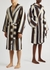 Unisex striped hooded terry cotton robe - Tekla