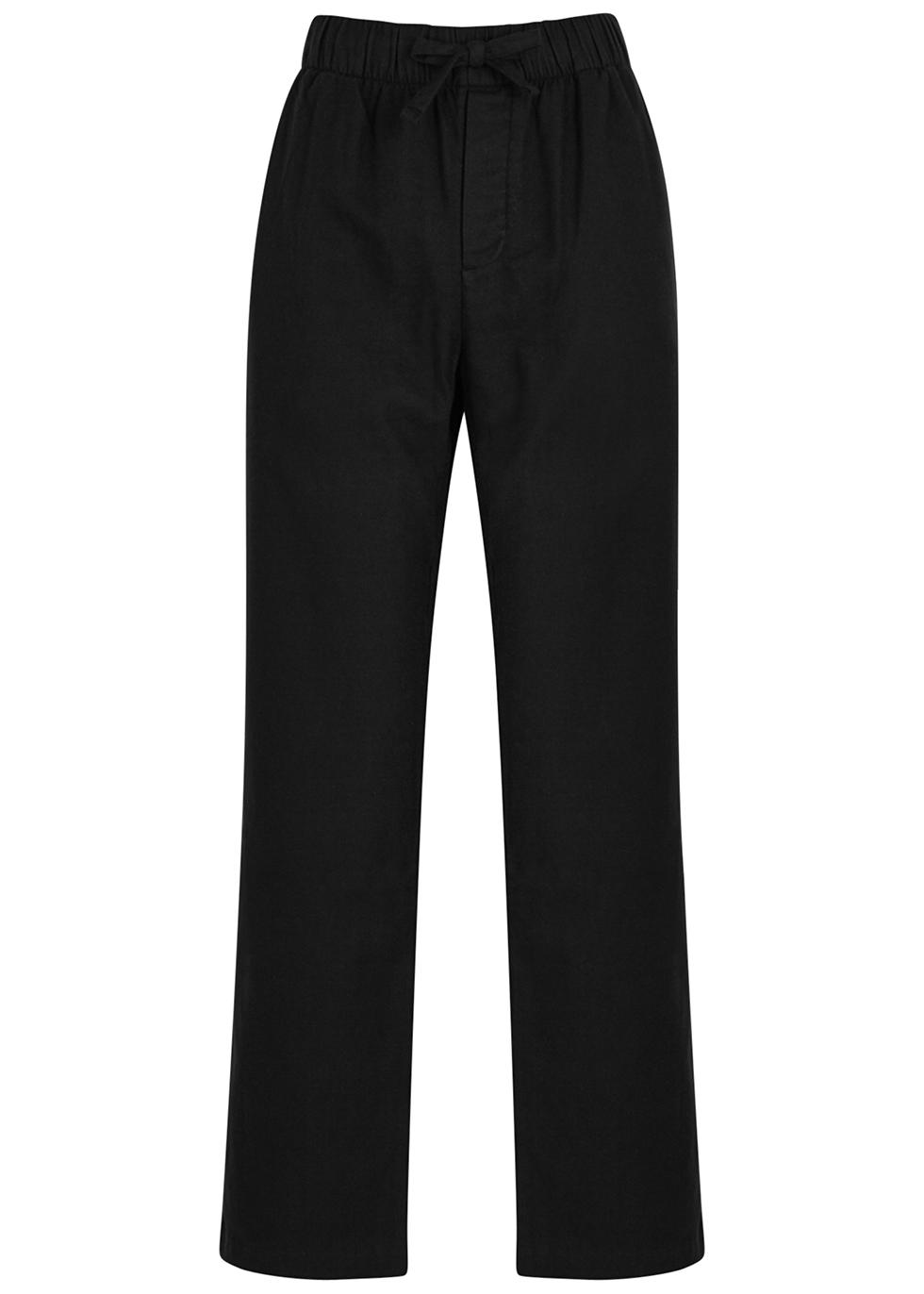 Unisex off-white flannel pyjama trousers