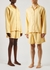 Unisex yellow flannel pyjama shorts - Tekla