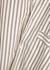 Unisex striped poplin pyjama top - Tekla