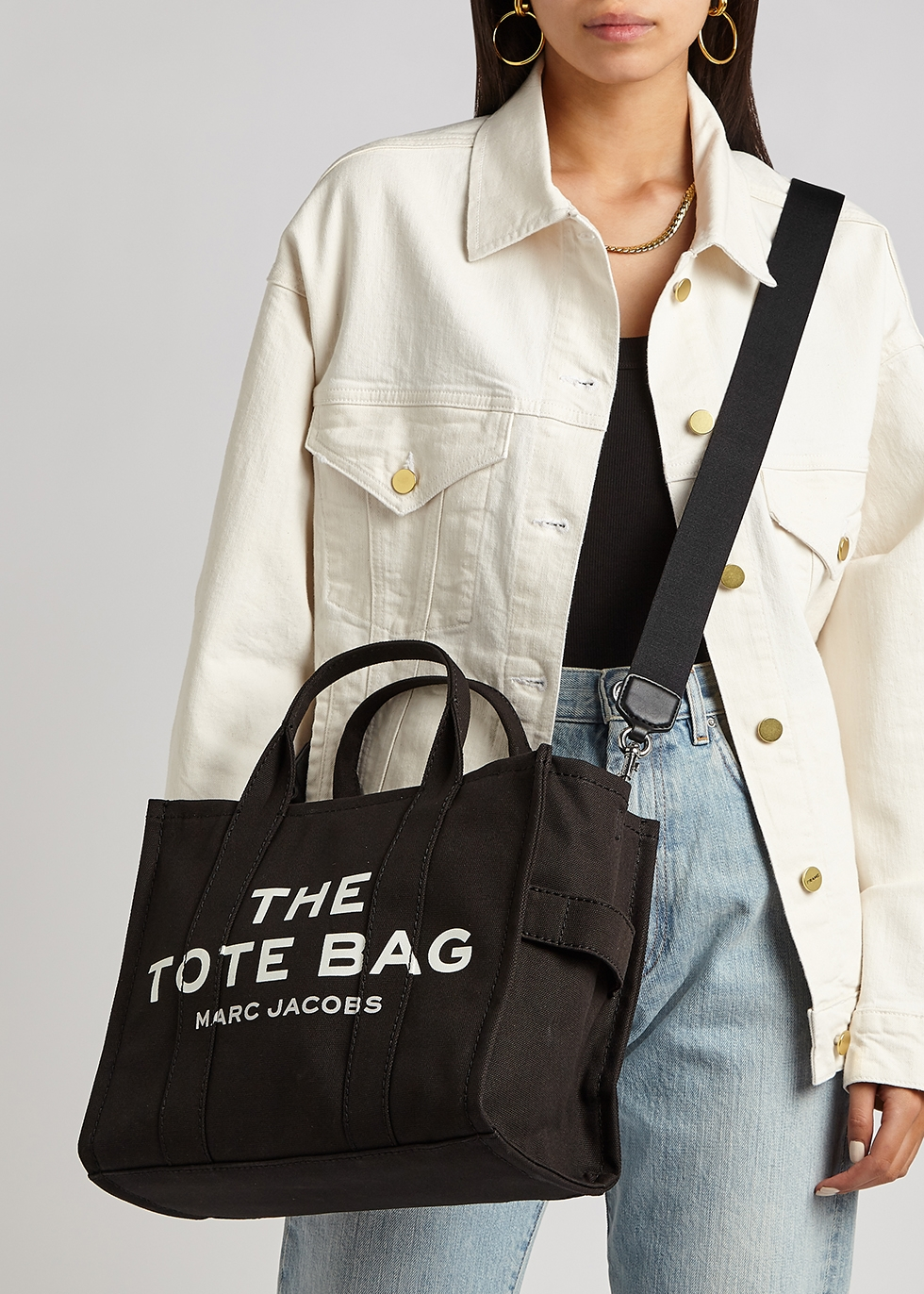 Marc Jacobs (The) The Traveler Tote small black canvas bag ...