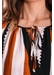 Tiered long sleeve maxi dress in black and brown - Traffic People