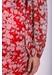Mini chiffon draper dress in red floral print - Traffic People