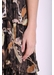 Maxi mia dress in black floral - Traffic People