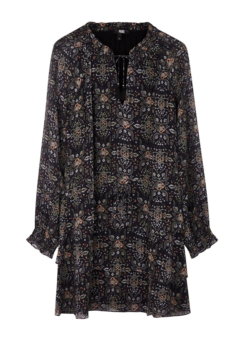 Calla printed silk-georgette mini dress