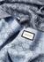 Blue GG-jacquard wool scarf - Gucci