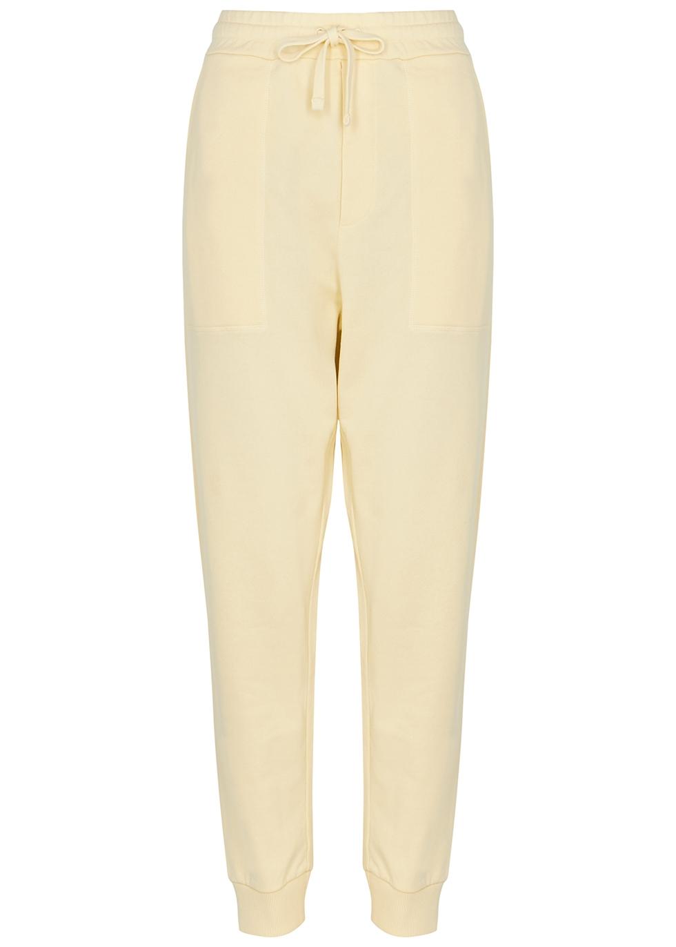 Shay cream cotton sweatpants