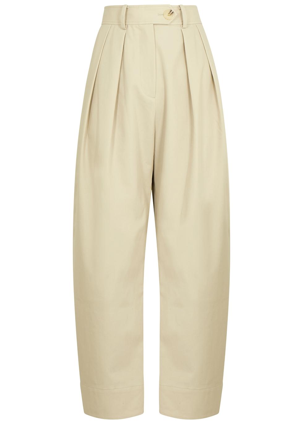 Spencer ecru twill trousers