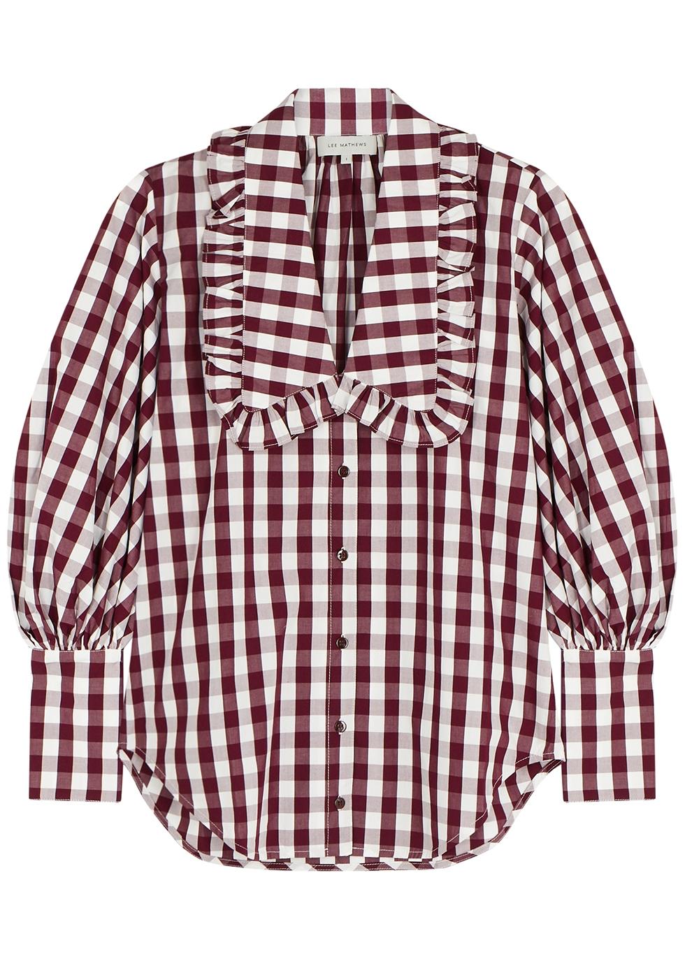 Georgina checked cotton shirt