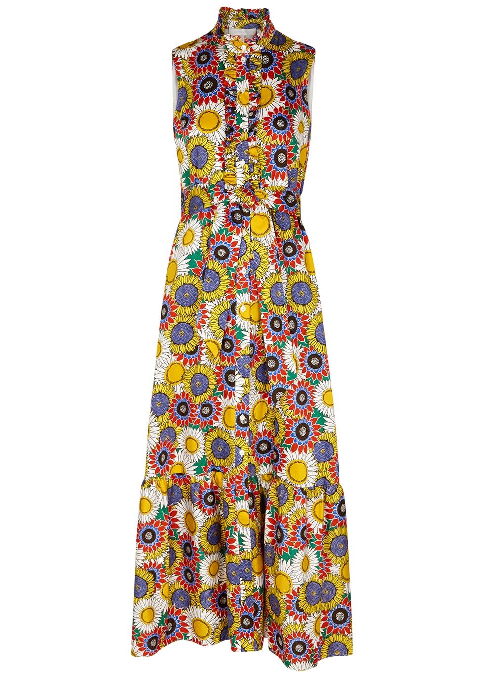 Brooke floral-print cotton maxi dress