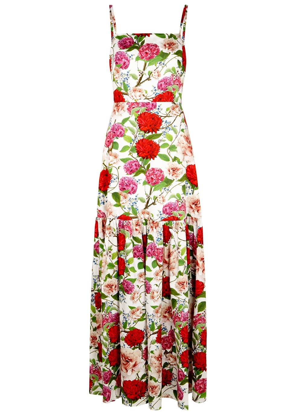 Cordiela floral-print cotton maxi dress