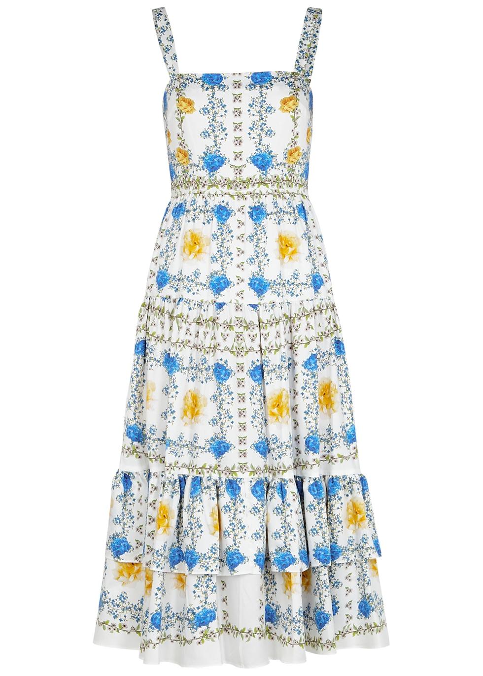 Daniela floral-print cotton midi dress
