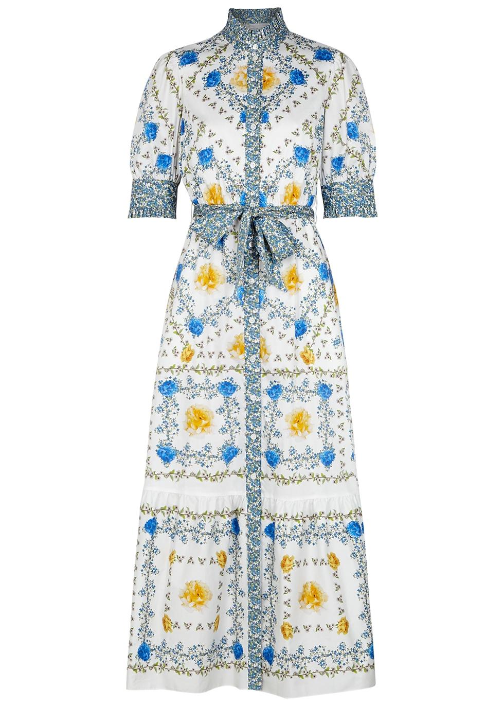 Marni floral-print cotton shirt dress