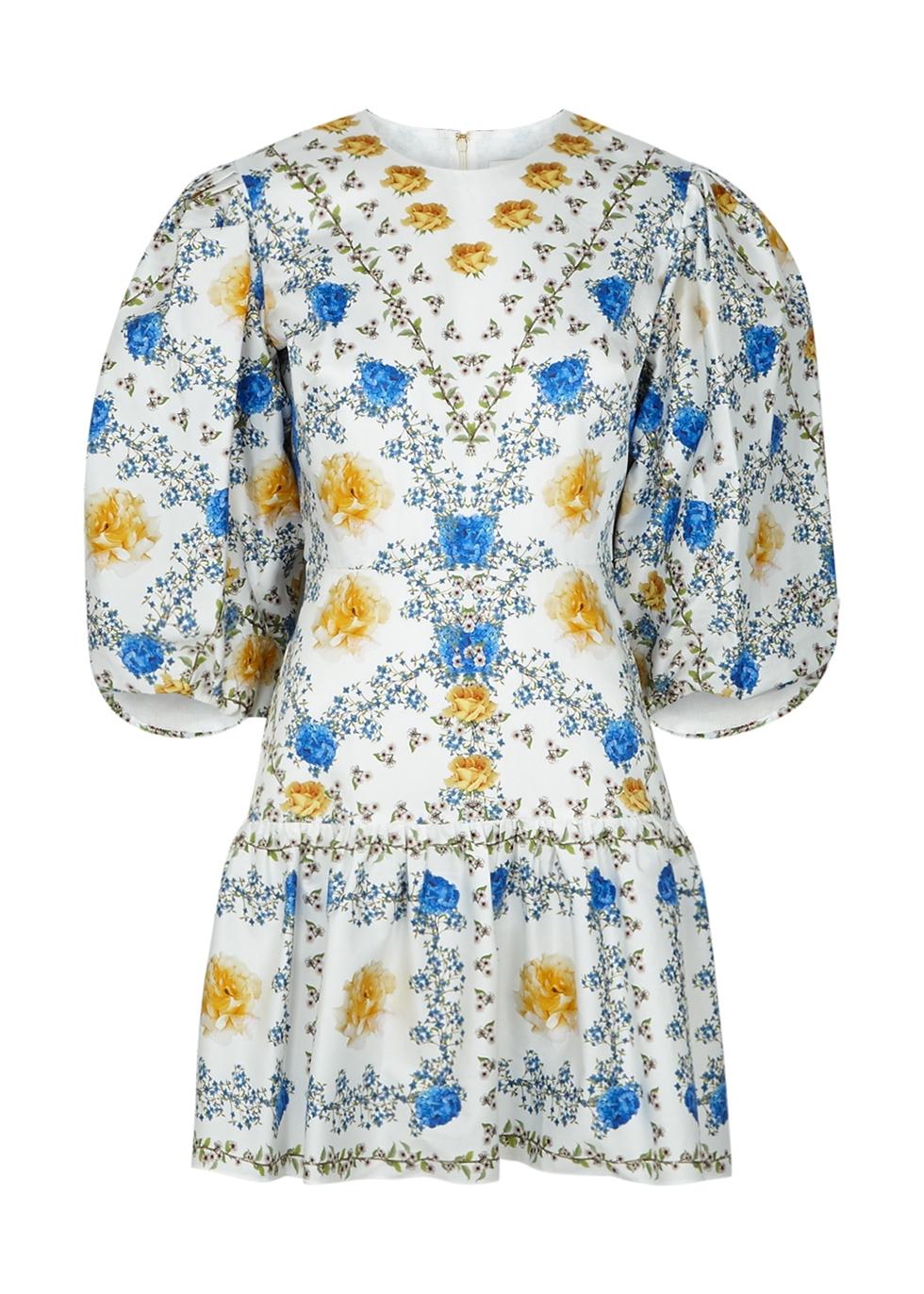 Tabi floral-print cotton mini dress