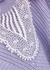 Lilac lace-trimmed cotton-blend jumper - Self-Portrait