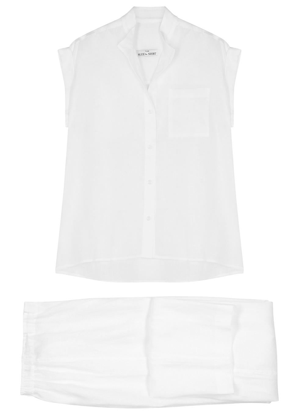White linen pyjama set