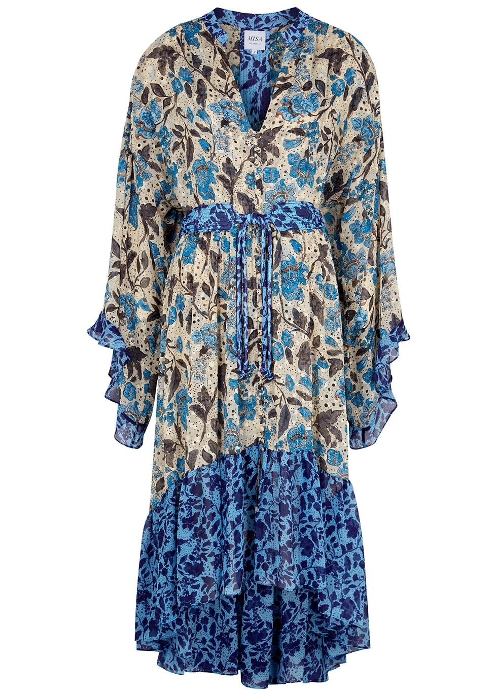 Octavia floral-print chiffon midi dress