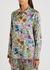 Paint By Flora stretch-silk pyjama shirt - Jessica Russell Flint