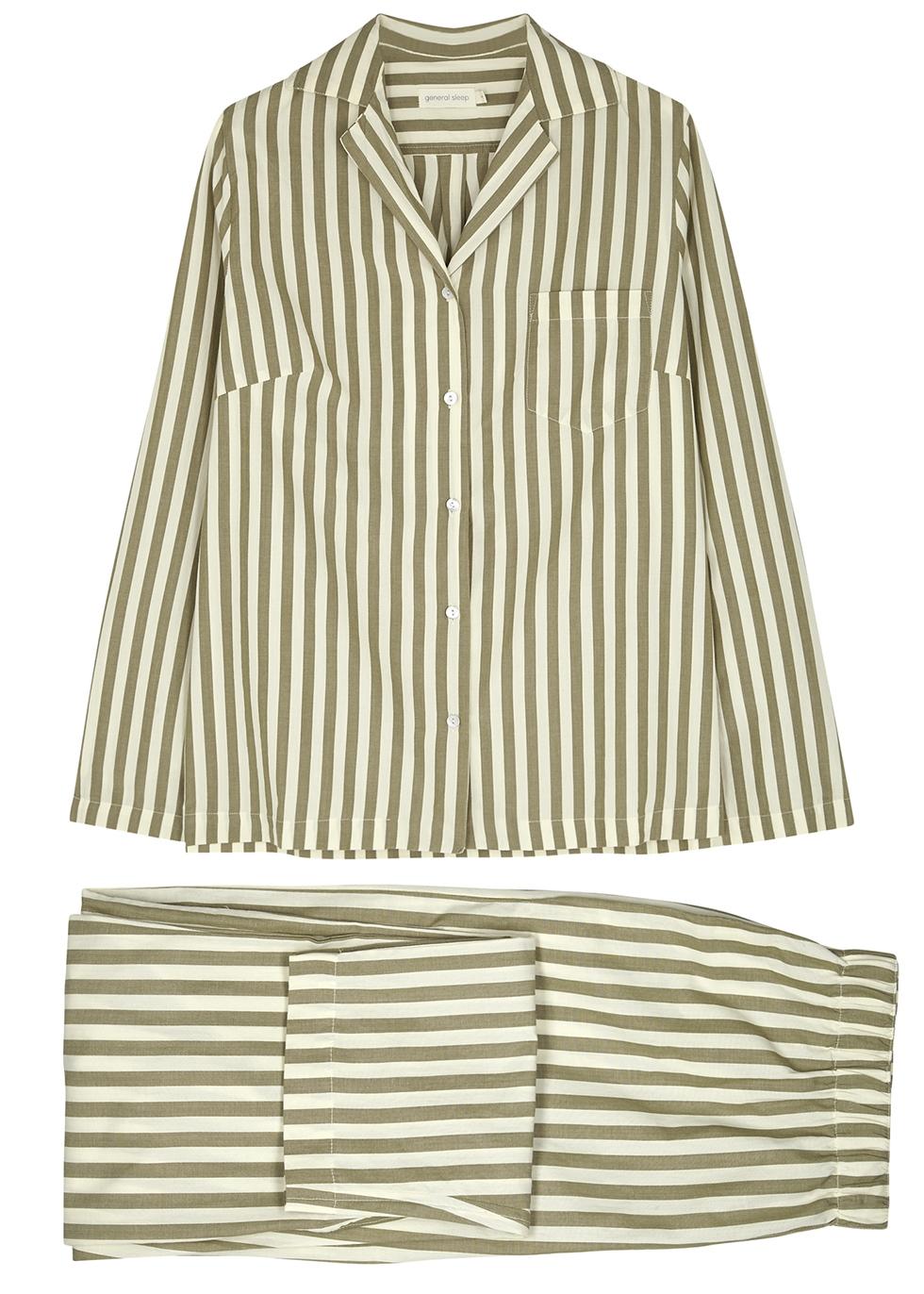 Striped cotton pyjama set