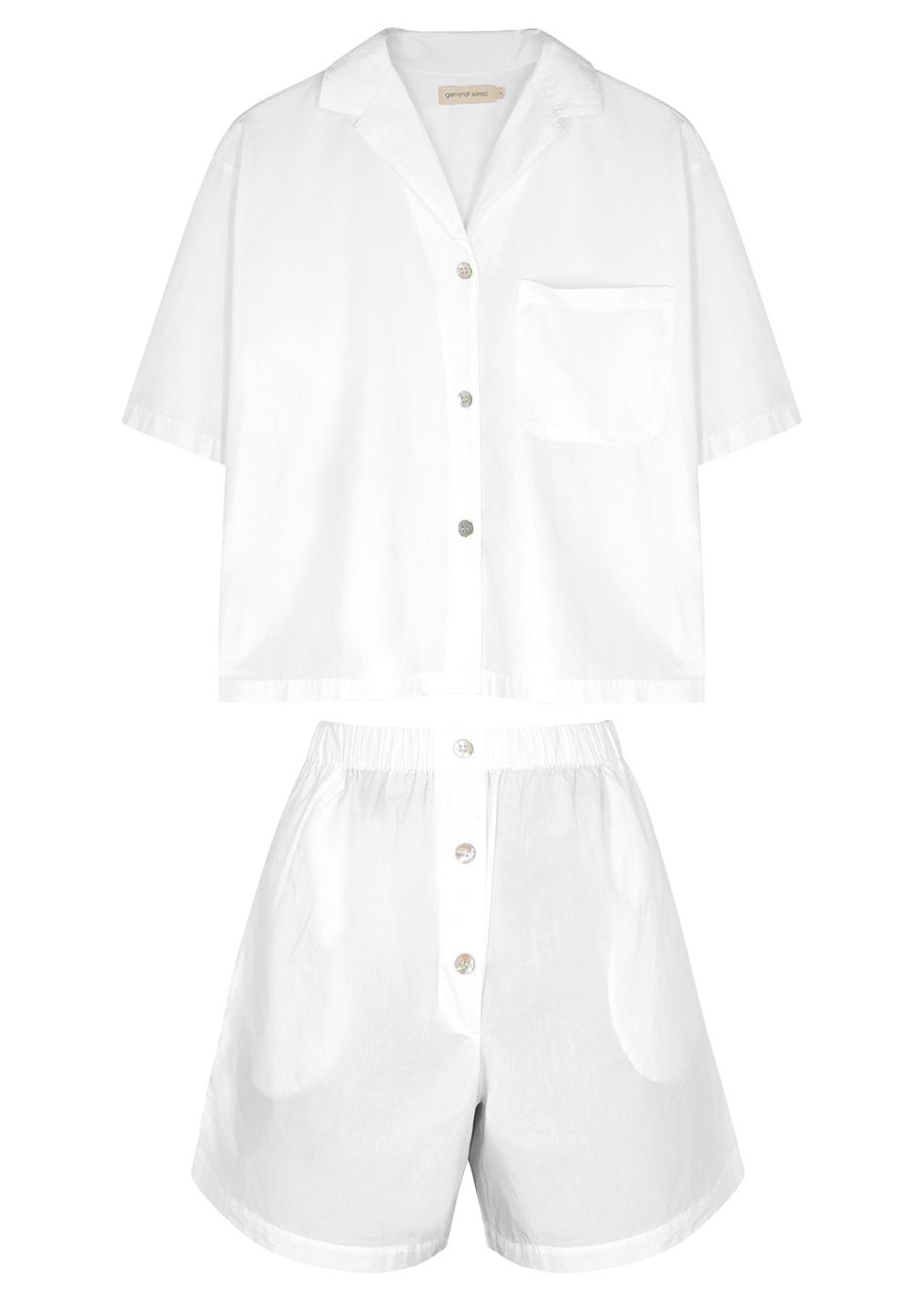 Camilla white cotton pyjama set
