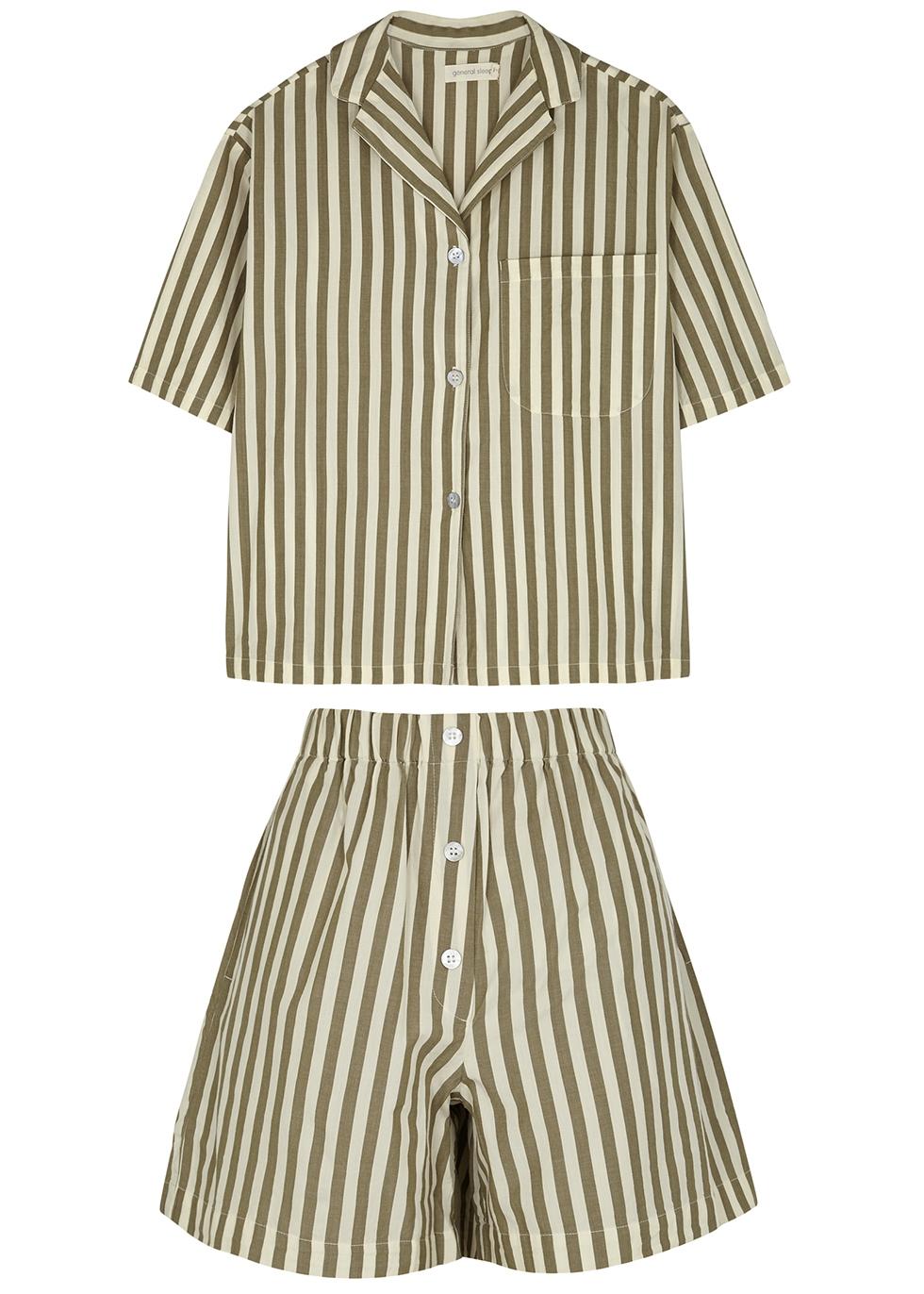 Camilla striped cotton pyjama set