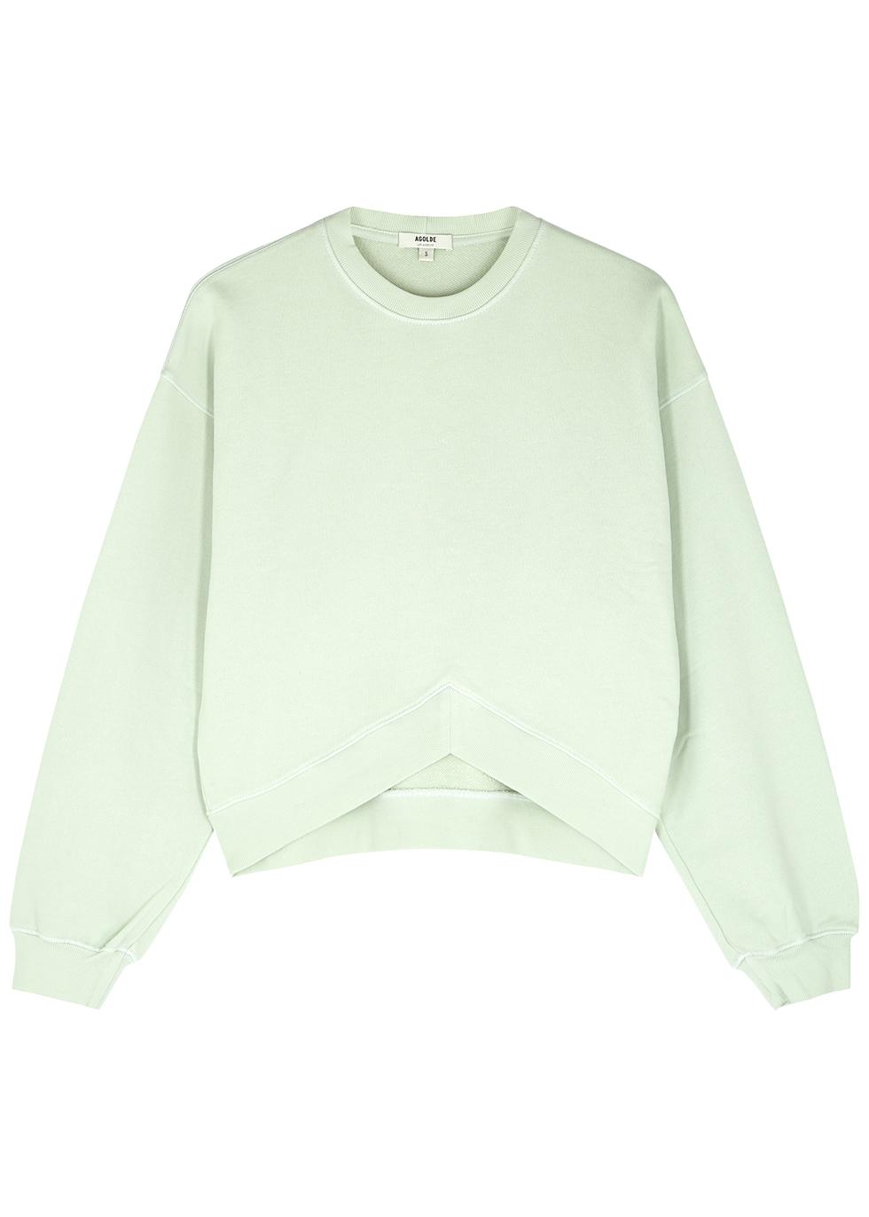 Mint green cotton sweatshirt