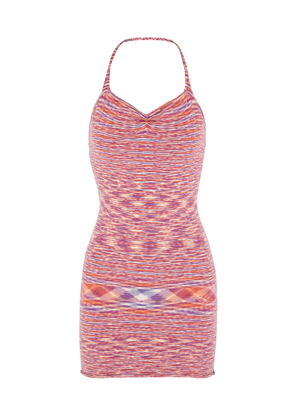 Zion space-dyed knitted mini dress