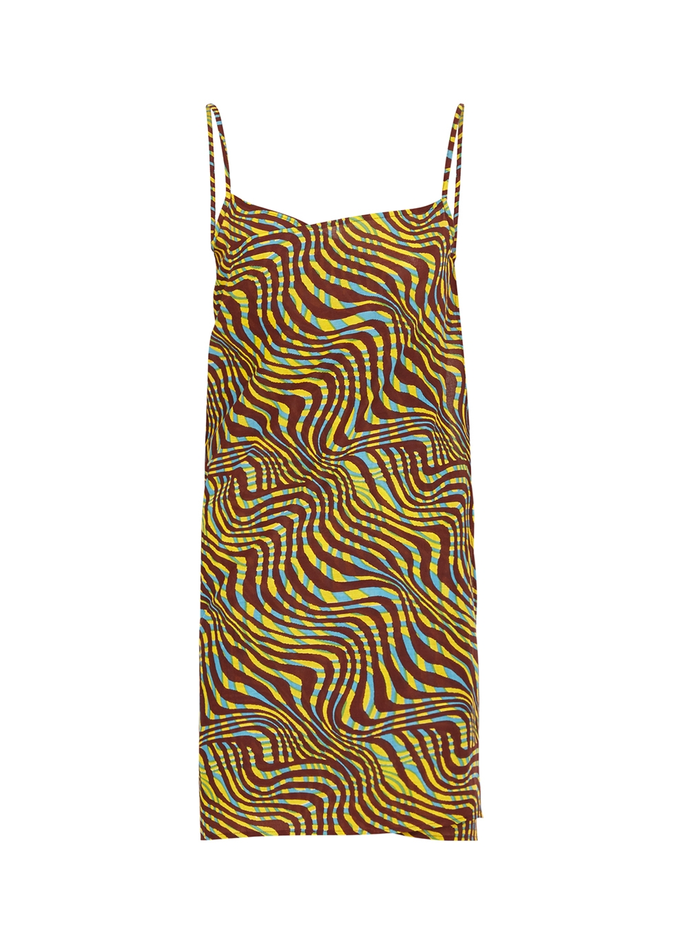 Safari Pareo printed cotton wrap dress
