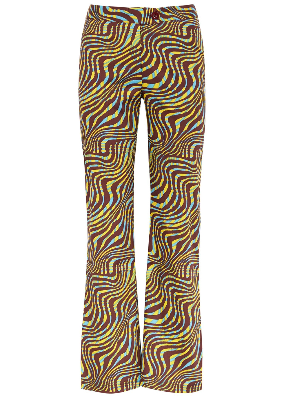 Disco printed stretch-cotton trousers