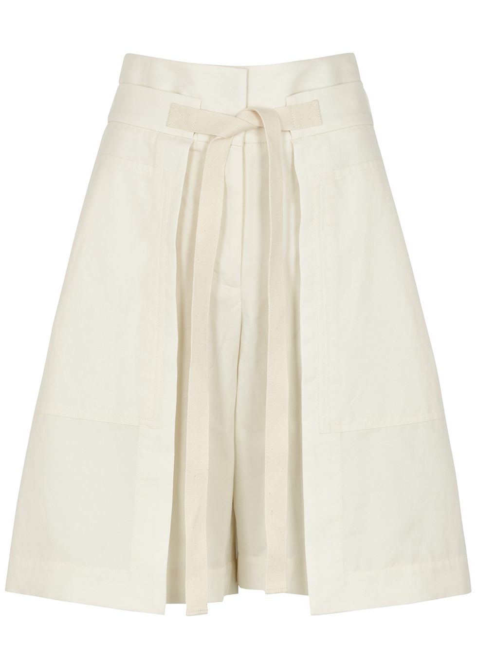 Powell off white linen-blend shorts