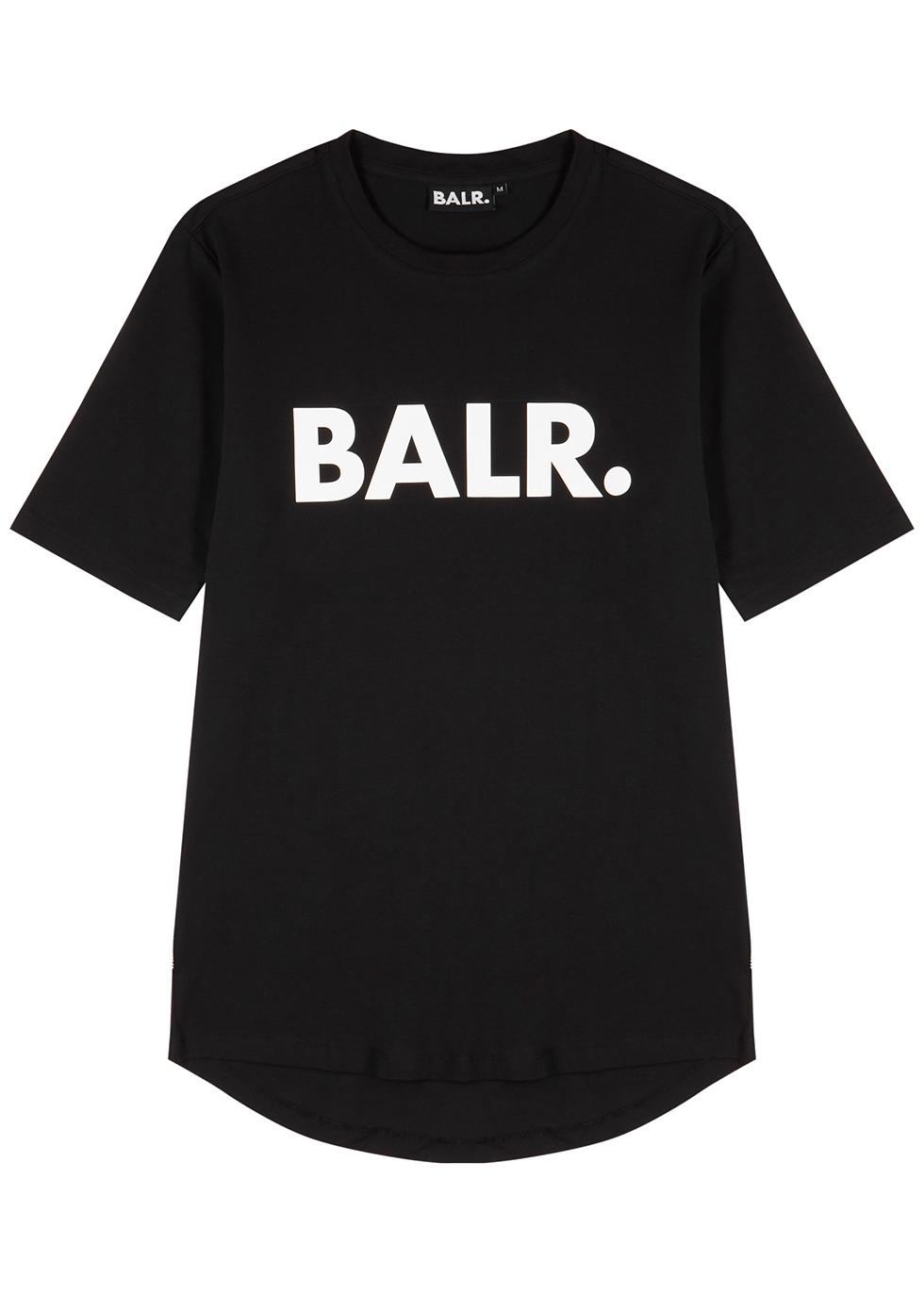 Black logo-print stretch-cotton T-shirt