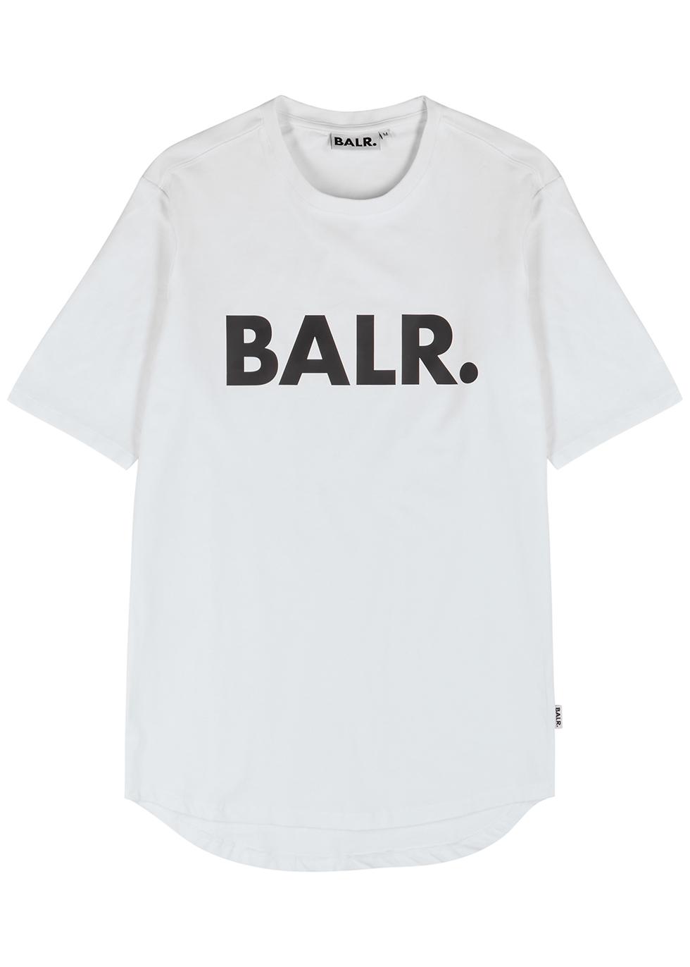 White logo-print stretch-cotton T-shirt