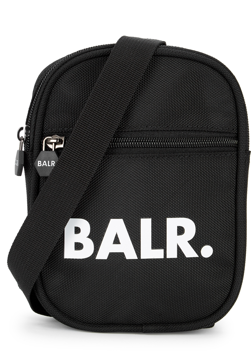 U-Series black logo cross-body bag