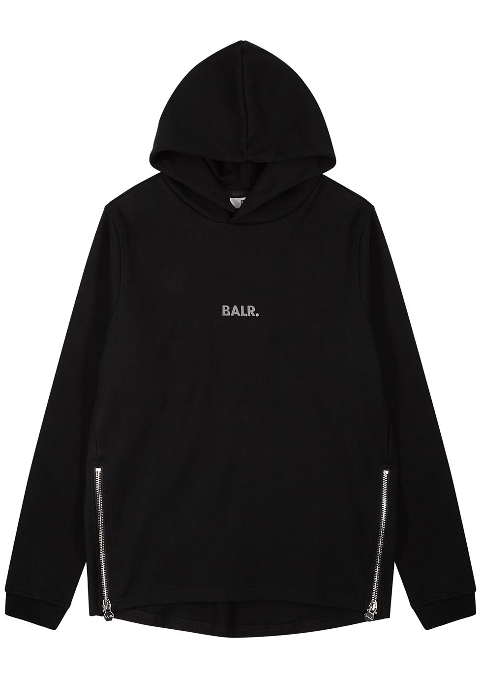 Q-Series black cotton-blend sweatshirt