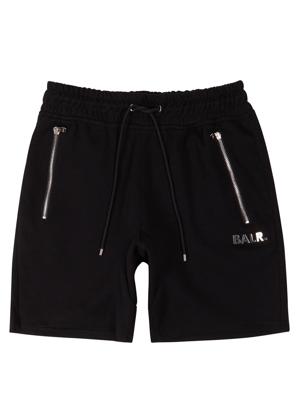 Q-Series black cotton-blend shorts