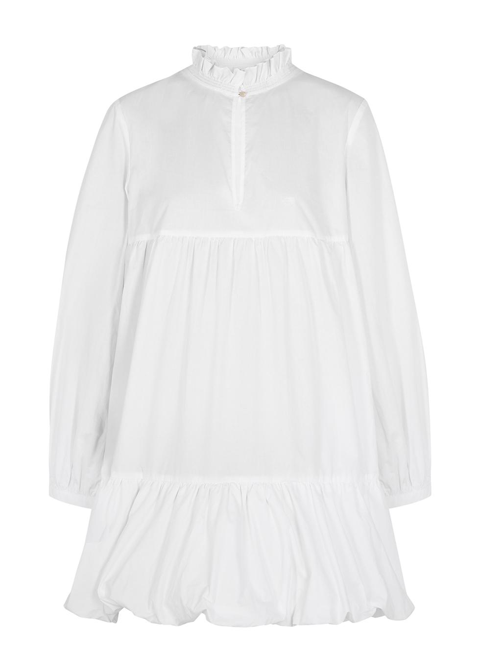 Bo white tiered cotton mini dress