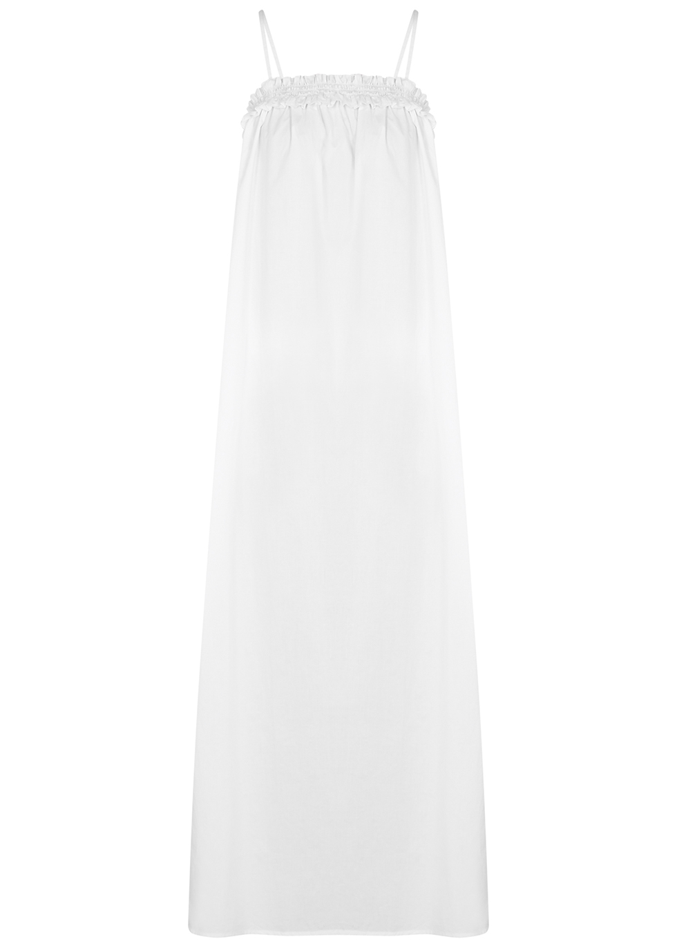 Ida white cotton maxi dress