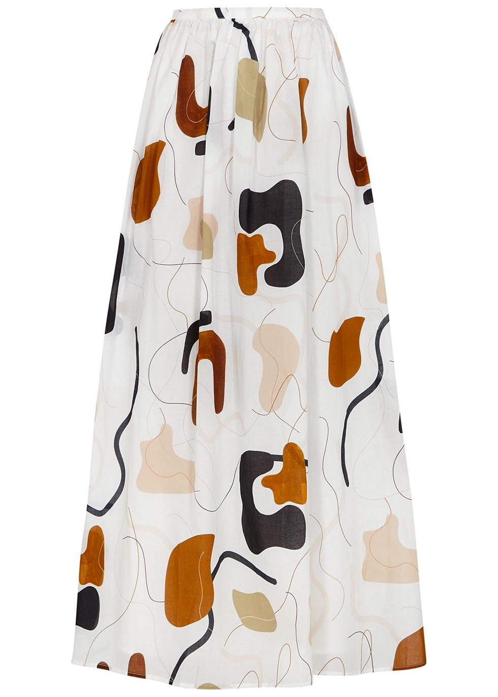 Rae printed cotton maxi skirt