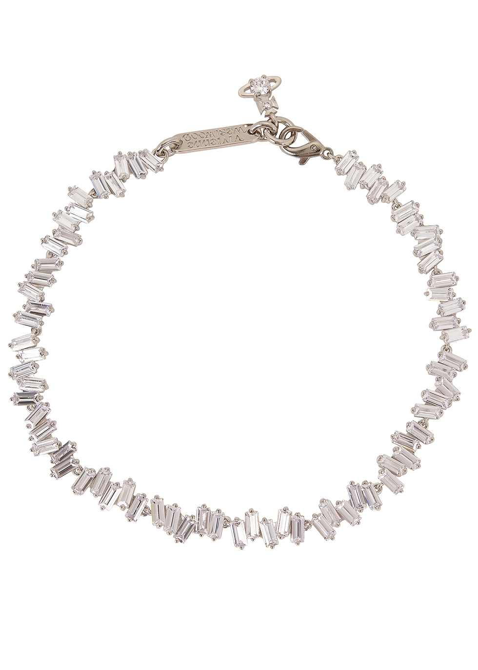 Molly crystal-embellished choker