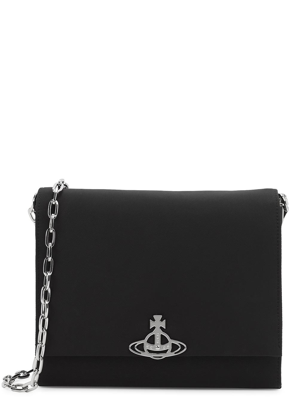 Hilary medium black nylon cross-body bag